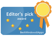 BestWindows8Apps Editor's pick award